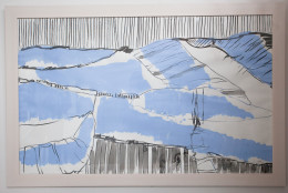 Blue Dartmoor Landscape