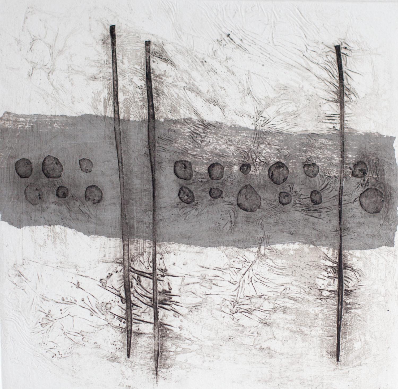 Grey Collograph